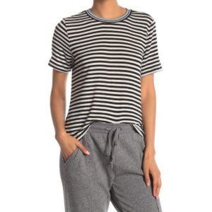 Splendid Taffy Black White Striped T-Shirt